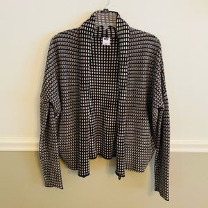 NSF Black/Tan Open Cardigan with Pockets Small